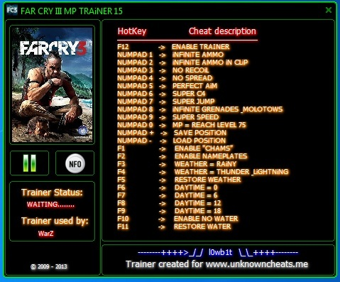 FAR CRY II MP TRAiNER +15_FiXED - Other FPS Games - OldSchoolHack.