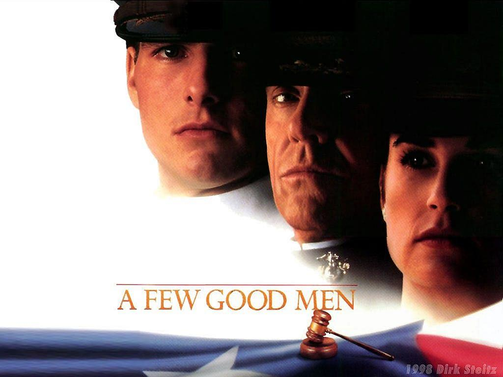 a few good men honor A few good men (and one woman) is a solidly entertaining courtroom drama cruise and company keep your attention riveted to the screen even if the script does play a bit fast and loose with actual court-martial proceedings.