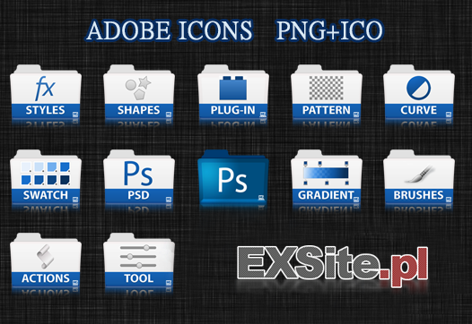 Adobe Icons PNG+ICO