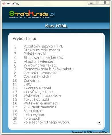 Kurs HTML.Szybki Start - Strefa Kursów1