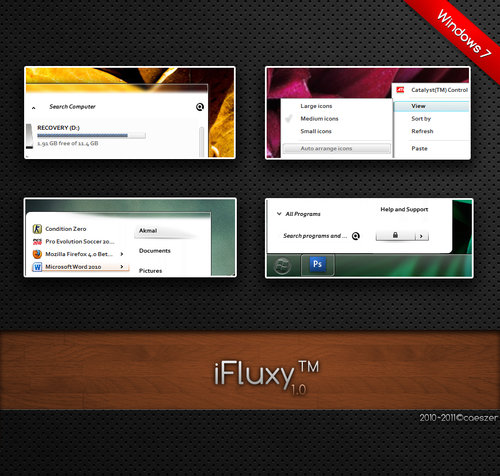 iFluxy for Windows 7 - Motyw Windows 7