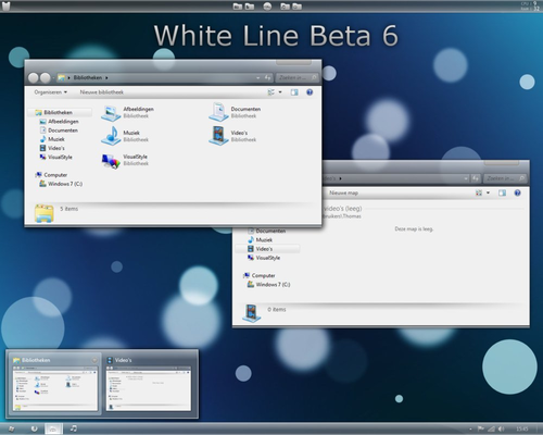 White Line Beta 6 Updated - Motyw Windows 7