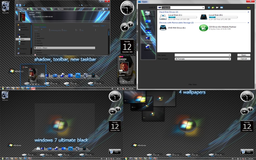 Windows 7 ultimate black Theme - Styl Windows 7