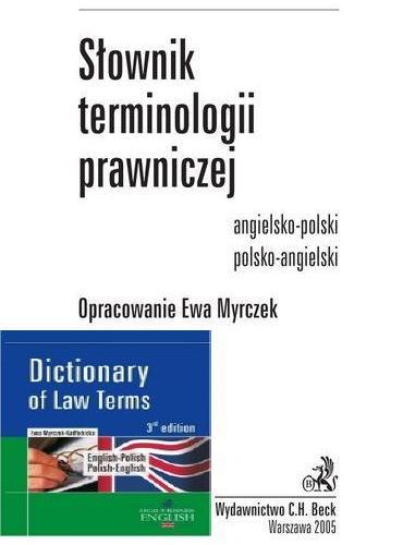Ewa Myrczek - Słownik terminologii prawniczej angielsko-polski, polsko-angielski [PL.ENG][PDF]