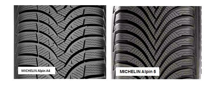 porównanie MICHELIN Alipin A4 i MICHELIN Alpin A5