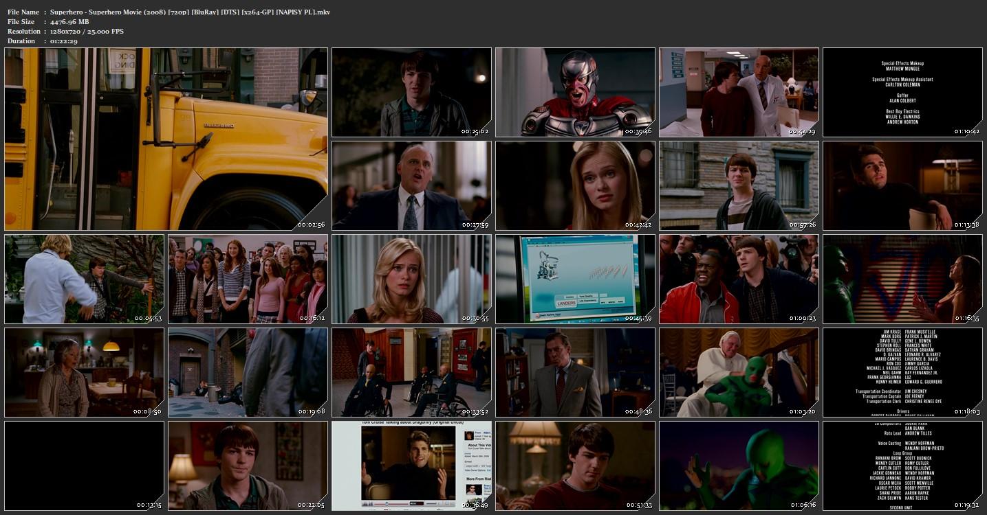 Superhero / Superhero Movie [2008] [720p] [BluRay] [DTS] [x264 GP] [Napisy PL SUBBS]